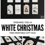 Wishing You A White Christmas Printable Gift Tags   Black And Gold   Christmas Gift Tags Free Printable Black And White