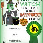 Witch Certificate: Best Halloween Costume | Rooftop Post Printables   Best Costume Certificate Printable Free