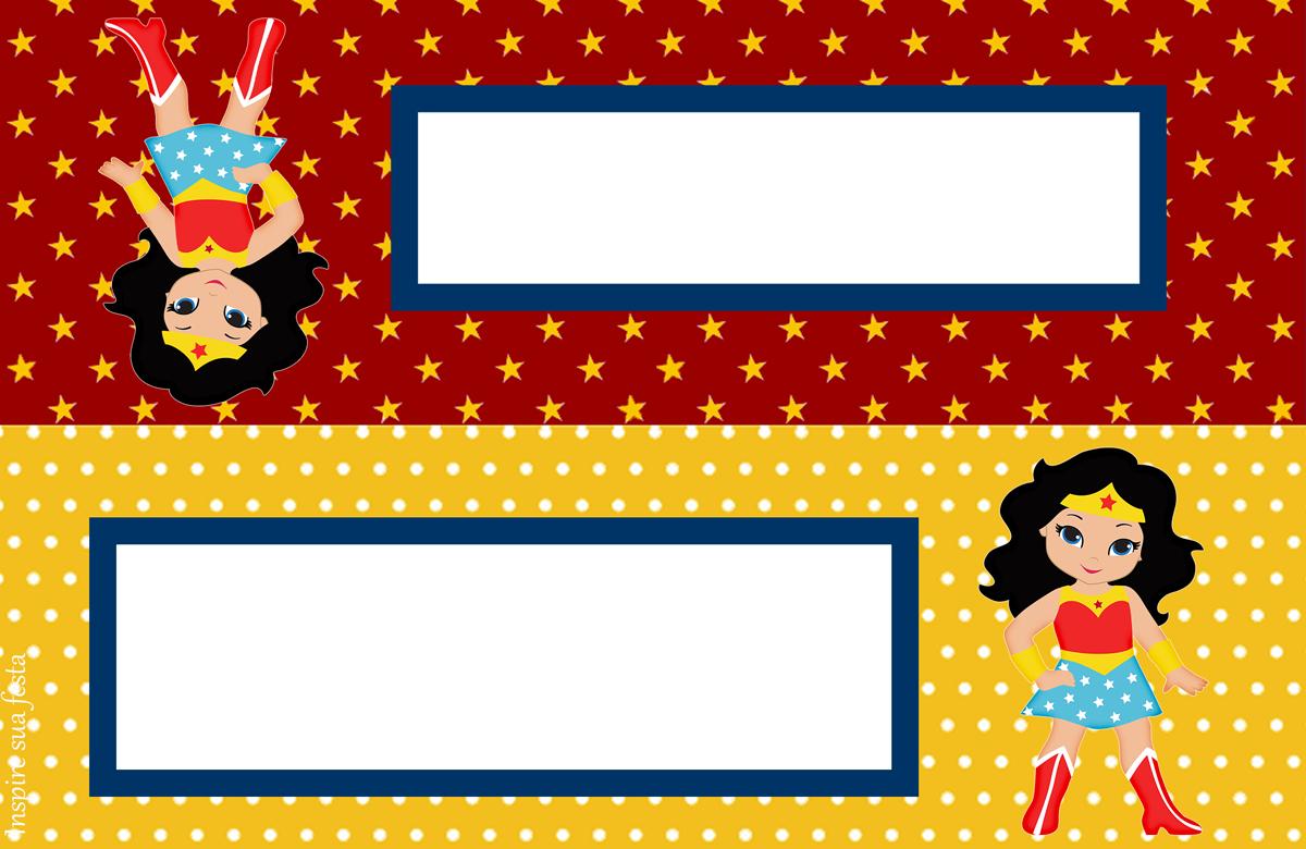 Wonder Woman Chibi: Free Printable Candy Bar Labels. - Oh My Fiesta - Free Printable Candy Table Labels