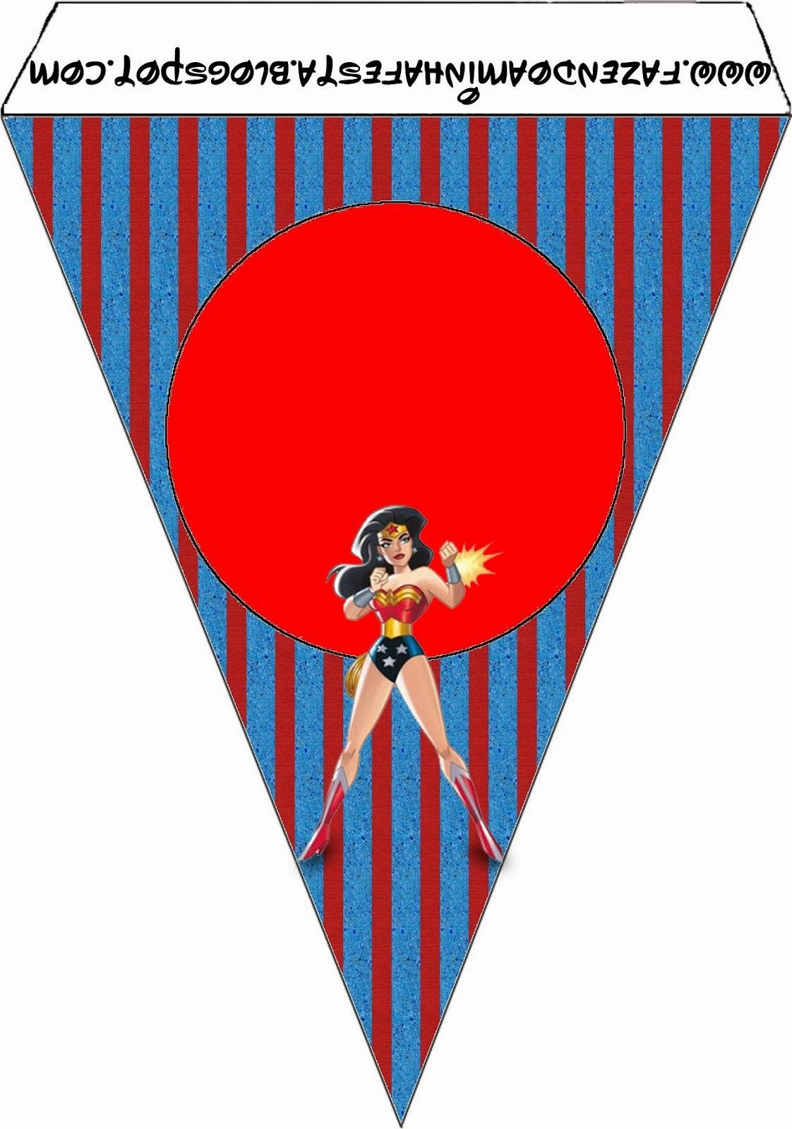 Wonder Woman: Free Party Printables. | Parties! In 2019 | Superhero - Free Wonder Woman Printables
