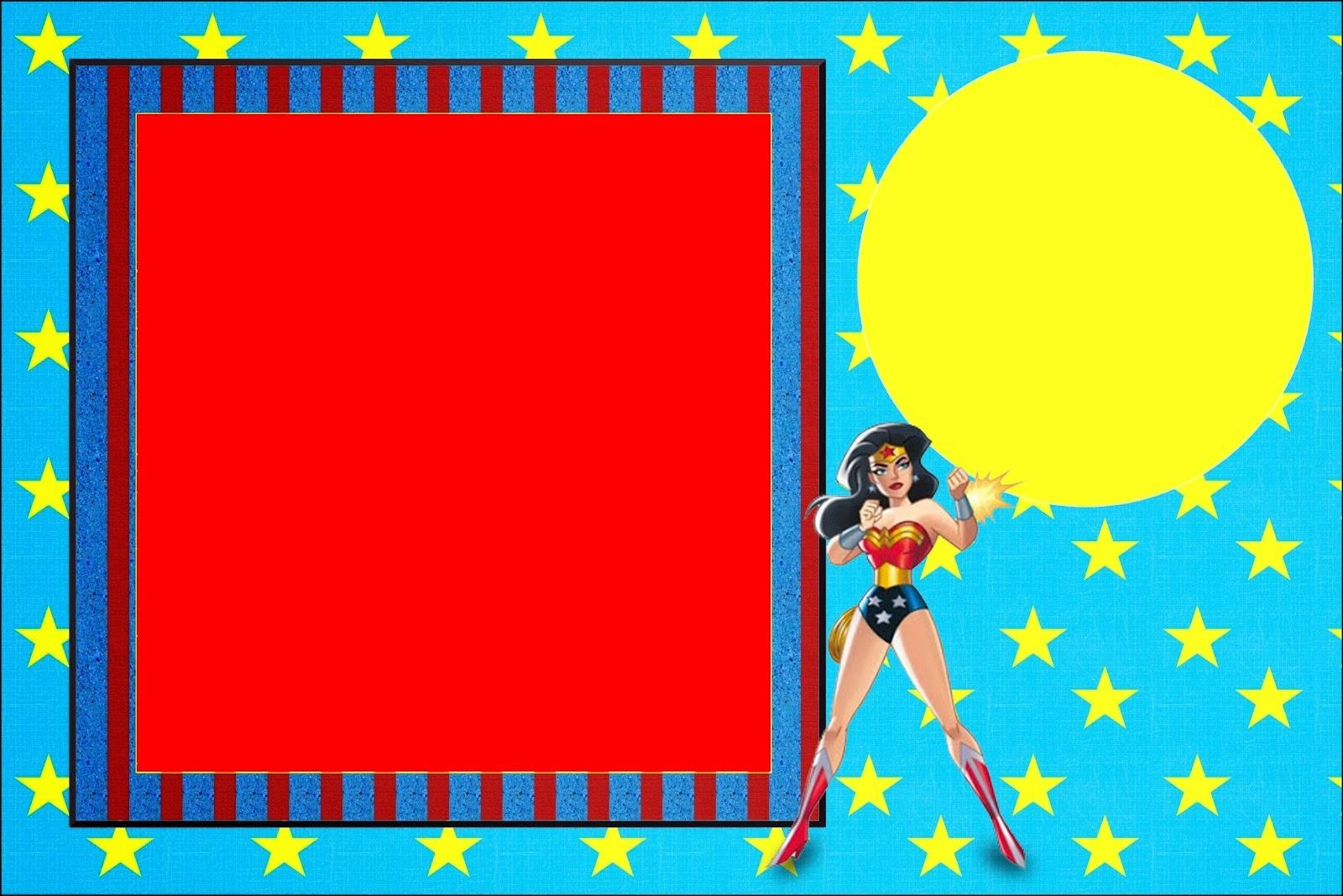 Wonder Woman:free Printable Invitations. - Oh My Fiesta! For Geeks - Free Wonder Woman Printables