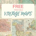 Wonderful Free Printable Vintage Maps To Download   Pillar Box Blue   Free Vintage Printables