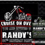 Wonderful Harley Davidson Birthday Party Invitations Angel Themed   Free Printable Harley Davidson Birthday Invitations