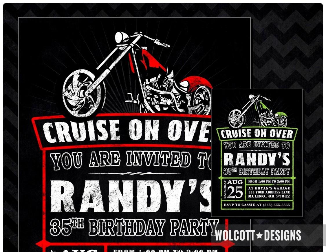 Wonderful Harley Davidson Birthday Party Invitations Angel Themed - Free Printable Harley Davidson Birthday Invitations