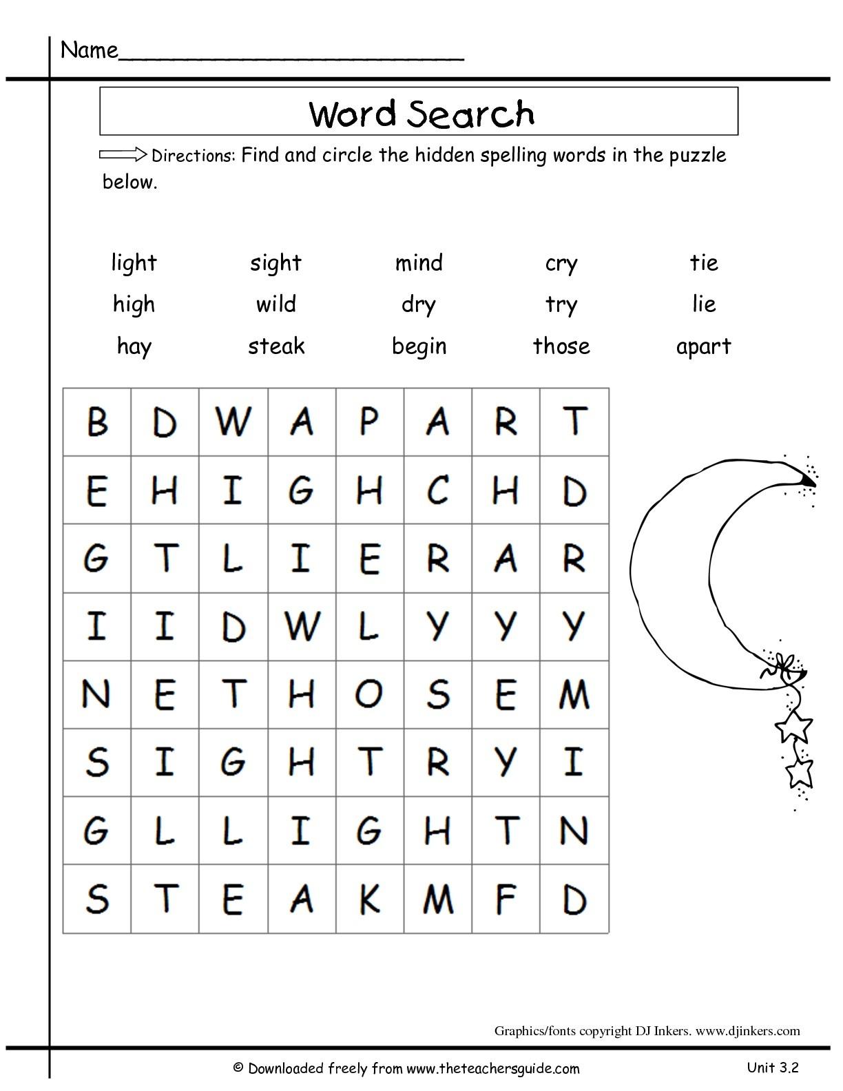 Wonders Second Grade Unit Three Week Two Printouts - 2Nd Grade Word Search Free Printable