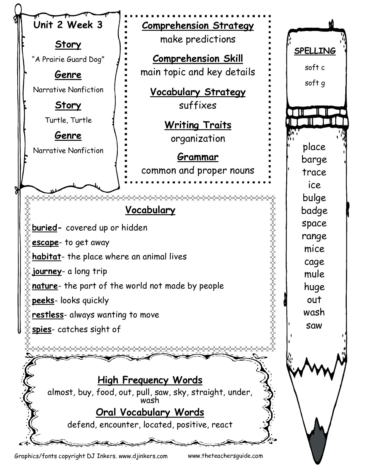 Wonders Second Grade Unit Two Week Three Printouts - Free Printable Worksheets For 2Nd Grade Social Studies