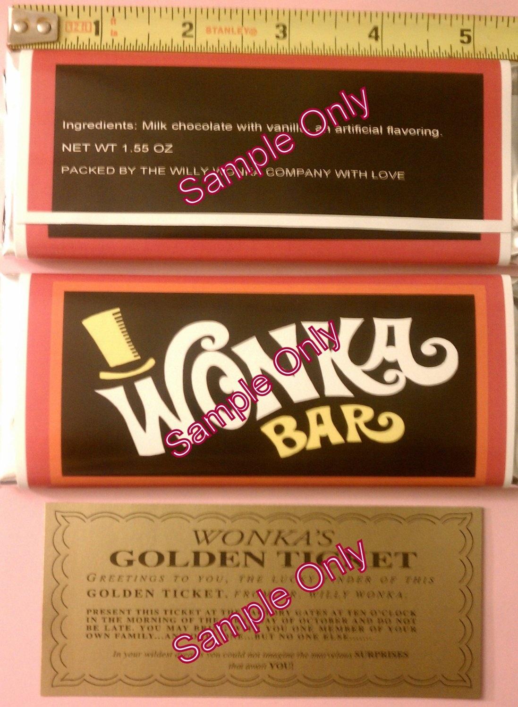 Wonka Bar Wrapper Template. Bar Wrapper Template Wonka Bar Wrappers - Free Printable Wonka Bar Wrapper Template