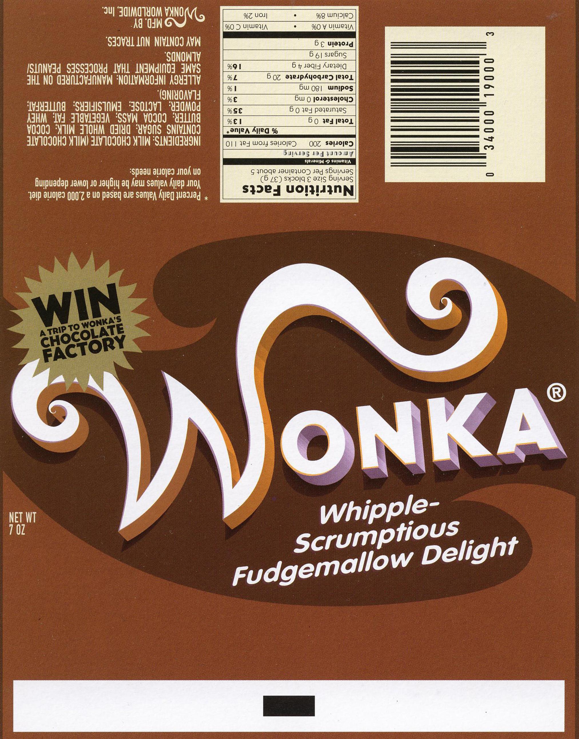 Wonka Wrapper: Fudgejenggakun | Willy Wonka | Wonka Chocolate - Free Printable Wonka Bar Wrapper Template