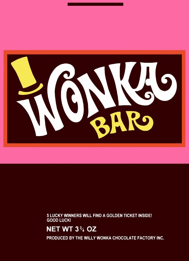 Wonka Wrapper | Willy Wonka | Wonka Chocolate, Willy Wonka, Wonka - Free Printable Wonka Bar Wrapper Template
