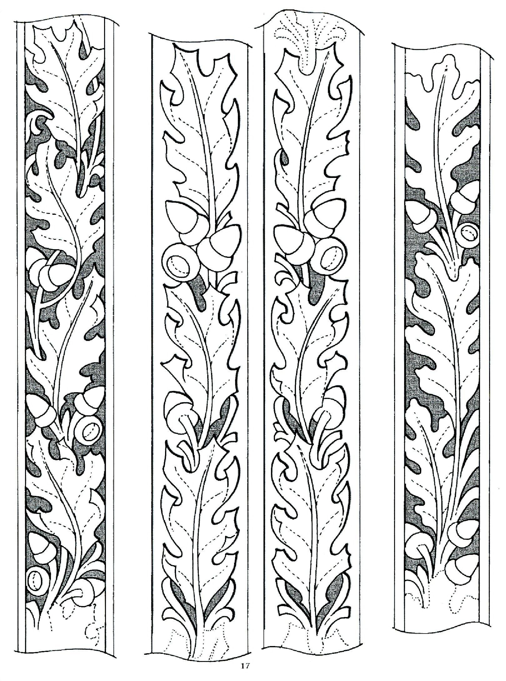 Wood Burning …   Acorn   Leath… - Free Printable Leather Belt Tooling Patterns