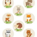 Woodland Cupcake Topper Forest Cupcake Topper Fox Cupcake | Etsy   Free Printable Woodland Animal Templates