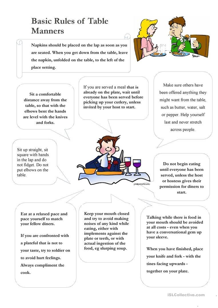 Worksheet : Free Esl Manners Worksheets For Kids Table Printables - Free Printable Life Skills Worksheets