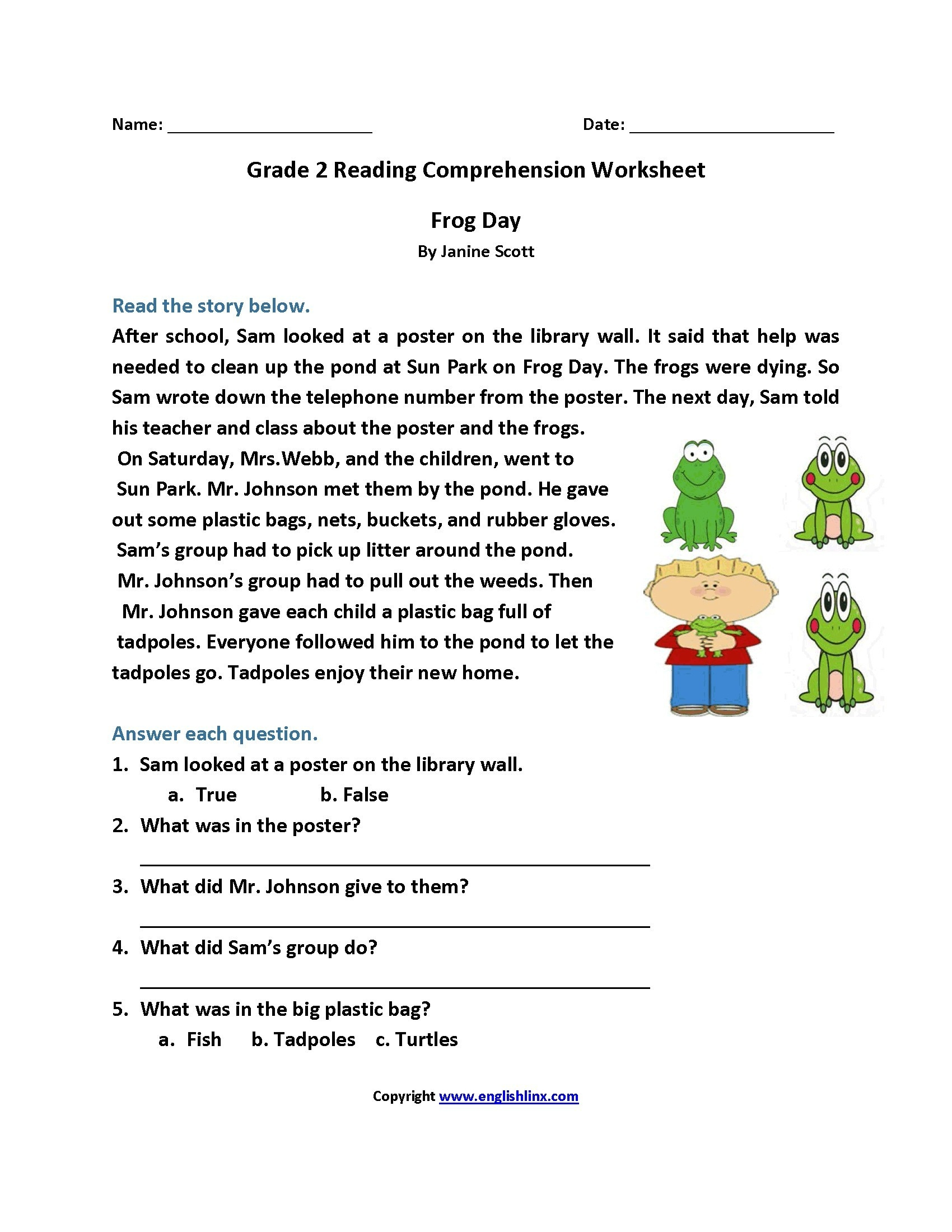 Worksheet : Free Printable Short Stories With Comprehension - Free Printable Comprehension Worksheets For Grade 5