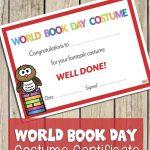 World Book Day Certificate: Best Costume   Best Costume Certificate   Best Costume Certificate Printable Free