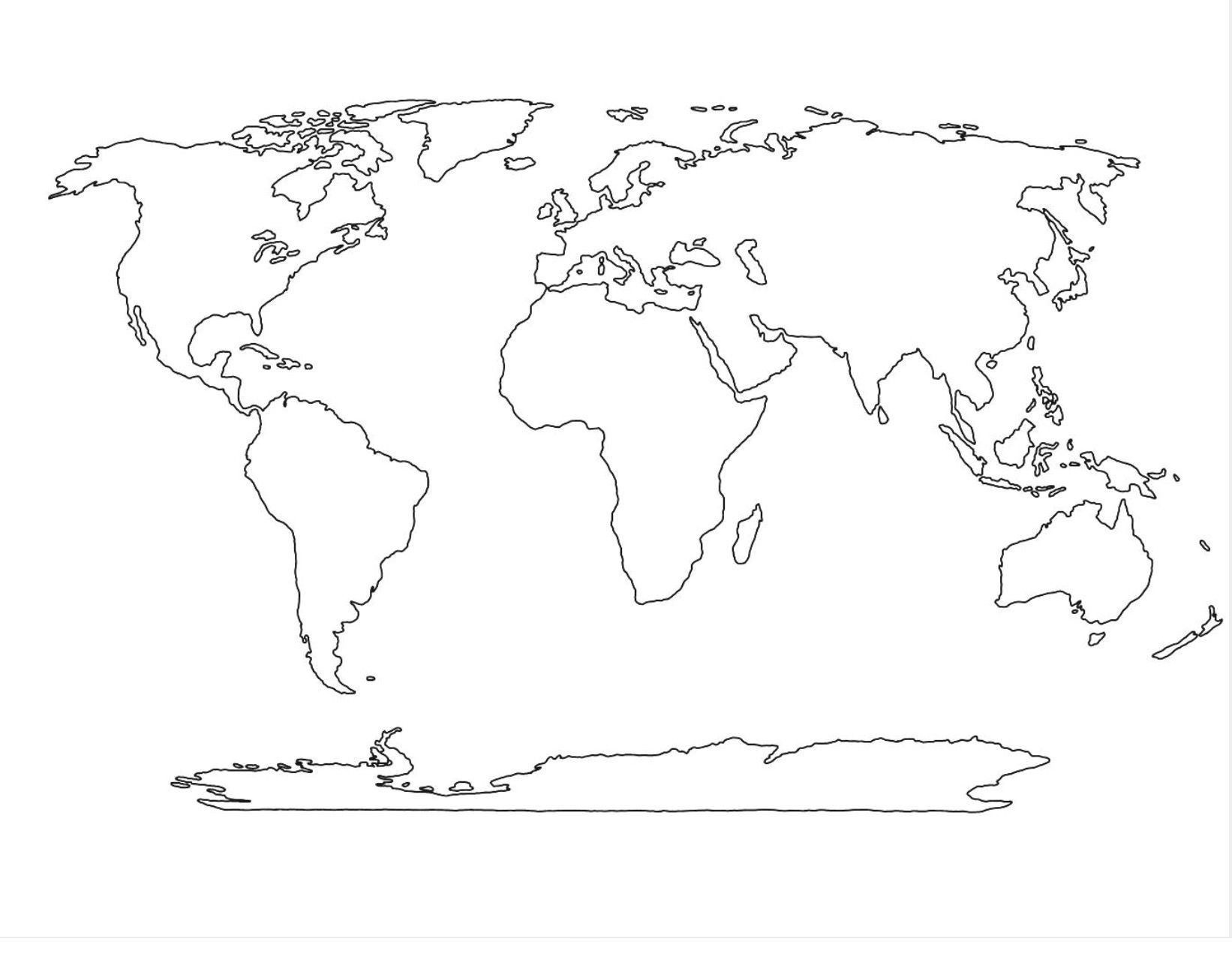 World Map Vector Template Copy World Political Map Outline Printable - Free Printable Blank World Map Download