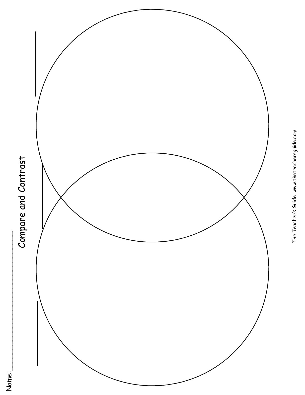 Writing Graphic Organizer Worksheets From The Teacher's Guide - Free Printable Compare And Contrast Graphic Organizer