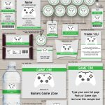 Xbox Party Printables, Invitations & Decorations | Video Game Party   Free Printable Video Game Party Invitations