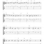 Yankee Doodle,easy Free Guitar Tab Sheet Music Score   Free Printable Guitar Music