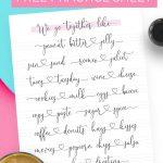 You & Me Modern Calligraphy Practice Sheet | Dawn Nicole Designs®   Modern Calligraphy Practice Sheets Printable Free