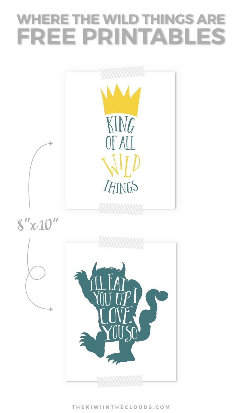 Your Baby Will Love These Where The Wild Things Are Free Printables - Where The Wild Things Are Free Printables