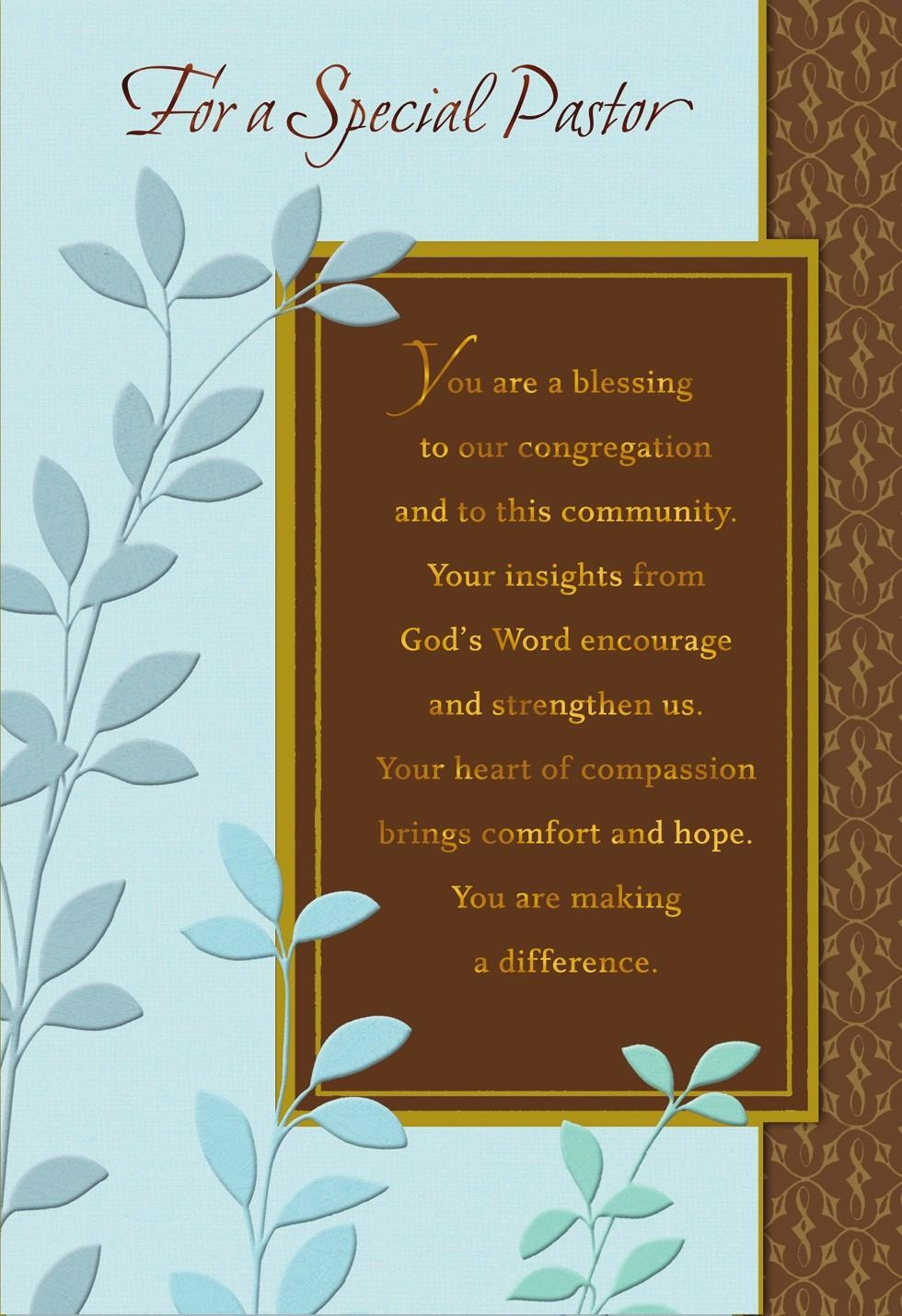 You're A Blessing, Pastor Anniversary Card - Greeting Cards - Hallmark - Free Printable Greeting Cards Hallmark