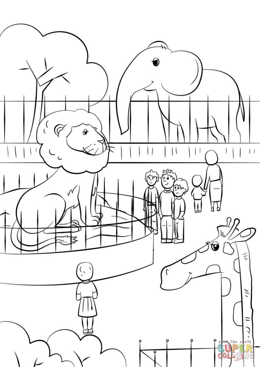 Zoo Animals Coloring Page | Free Printable Coloring Pages - Free Printable Pictures Of Zoo Animals