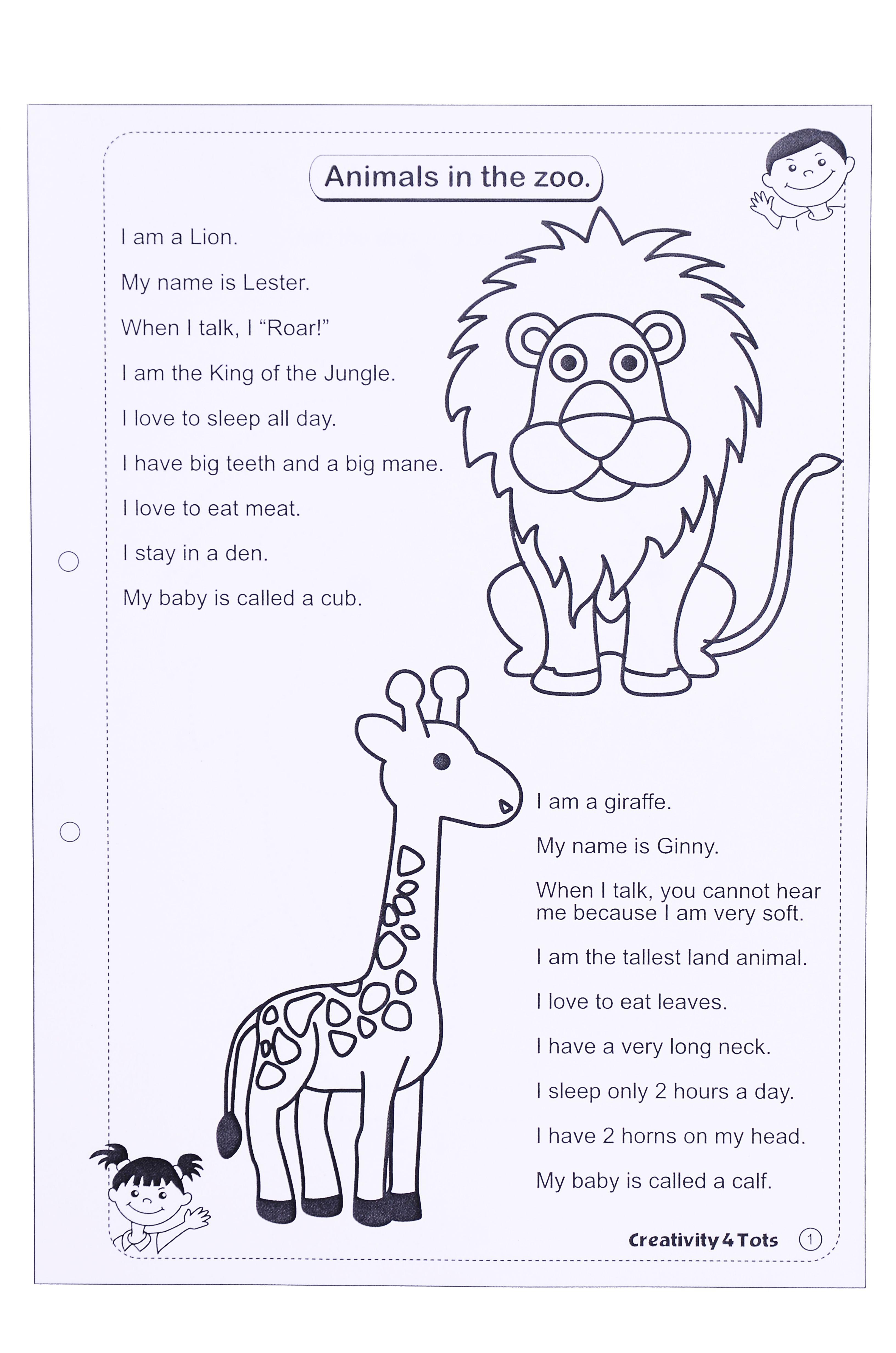 Zoo Animals Worksheet - This Worksheet Is Designed To Teach The - Free Printable Zoo Worksheets